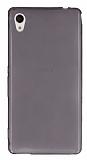 Sony Xperia M4 Aqua Ultra İnce Şeffaf Siyah Silikon Kılıf