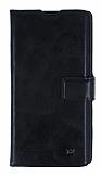 Eiroo Sony Xperia T3 Cüzdanlı Yan Kapaklı Siyah Deri Kılıf