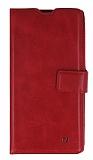 Eiroo Sony Xperia T3 Cüzdanlı Yan Kapaklı Kırmızı Deri Kılıf