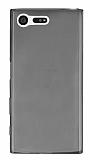 Eiroo Sony Xperia X Compact Ultra İnce Şeffaf Siyah Silikon Kılıf