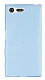 Sony Xperia X Compact Ultra İnce Şeffaf Mavi Silikon Kılıf