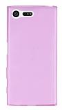 Eiroo Sony Xperia X Compact Ultra İnce Şeffaf Pembe Silikon Kılıf