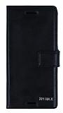 Eiroo Sony Xperia X Cüzdanlı Yan Kapaklı Siyah Deri Kılıf