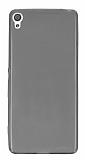 Sony Xperia X Ultra İnce Şeffaf Siyah Silikon Kılıf