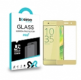 Eiroo Sony Xperia XA Curve Tempered Glass Gold Full Cam Ekran Koruyucu