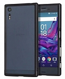 Eiroo Sony Xperia XZ Metal Bumper Çerçeve Siyah Kılıf