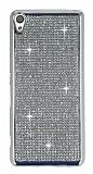 Eiroo Sony Xperia XA Taşlı Silver Silikon Kılıf