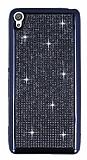 Eiroo Sony Xperia XA Taşlı Siyah Silikon Kılıf