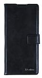 Eiroo Sony Xperia XA Ultra Cüzdanlı Yan Kapaklı Siyah Deri Kılıf