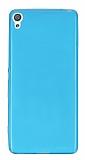 Eiroo Sony Xperia XA Süper İnce Şeffaf Mavi Silikon Kılıf