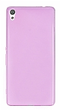 Eiroo Sony Xperia XA Ultra Süper İnce Şeffaf Pembe Silikon Kılıf