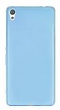Eiroo Sony Xperia XA Ultra Süper İnce Şeffaf Mavi Silikon Kılıf