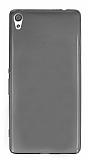 Eiroo Sony Xperia XA Ultra Süper İnce Şeffaf Siyah Silikon Kılıf