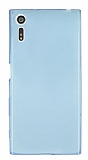 Sony Xperia XZ Ultra İnce Şeffaf Mavi Silikon Kılıf