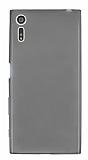 Eiroo Sony Xperia XZ Ultra İnce Şeffaf Siyah Silikon Kılıf