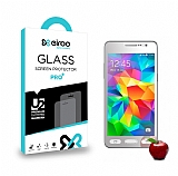 Eiroo Samsung Galaxy Grand Prime / Prime Plus Tempered Glass Ayna Silver Cam Ekran Koruyucu