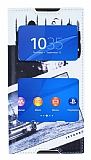 Eiroo Sony Xperia Z3 Plus Gizli M�knat�sl� Pencereli �stanbul Deri K�l�f
