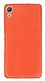 Eiroo Sony Xperia Z3 Plus Ultra İnce Şeffaf Kırmızı Silikon Kılıf