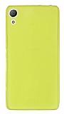 Sony Xperia Z3 Plus Ultra İnce Şeffaf Sarı Silikon Kılıf