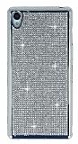 Eiroo Sony Xperia Z3 Taşlı Silver Silikon Kılıf