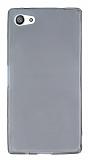 Sony Xperia Z5 Compact Ultra İnce Şeffaf Siyah Silikon Kılıf