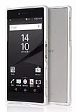 Eiroo Sony Xperia Z5 Premium Metal Bumper Çerçeve Silver Kılıf