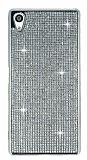 Eiroo Sony Xperia Z5 Premium Taşlı Silver Silikon Kılıf