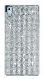 Eiroo Sony Xperia Z5 Taşlı Silver Silikon Kılıf
