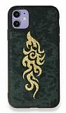 Eiroo Spark iPhone 11 Gold Simli Yeşil Silikon Kılıf
