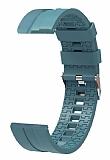 Eiroo Sport Samsung Galaxy Watch 46 mm Dark Blue Silikon Kordon