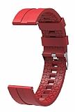 Eiroo Sport Samsung Galaxy Watch 46 mm Bordo Silikon Kordon