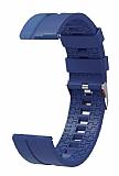 Eiroo Sport Samsung Galaxy Watch 46 mm Lacivert Silikon Kordon