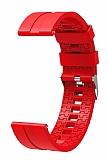 Eiroo Sport Samsung Galaxy Watch 46 mm Kırmızı Silikon Kordon