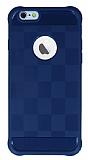 Eiroo Square Shield iPhone 6 / 6S Ultra Koruma Lacivert Kılıf