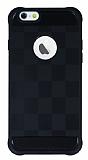 Eiroo Square Shield iPhone 6 / 6S Ultra Koruma Siyah Kılıf