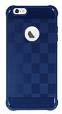 Eiroo Square Shield iPhone 6 Plus / 6S Plus Ultra Koruma Lacivert Kılıf