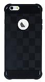 Eiroo Square Shield iPhone 6 Plus / 6S Plus Ultra Koruma Siyah Kılıf