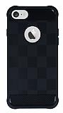 Eiroo Square Shield iPhone 7 Ultra Koruma Siyah Kılıf