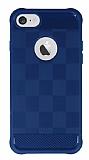 Eiroo Square Shield iPhone 7 Ultra Koruma Lacivert Kılıf