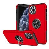 Eiroo Stand Hybrid iPhone 11 Pro Kırmızı Silikon Kılıf