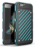 Eiroo Steel Armor iPhone 6 / 6S Ultra Koruma Mavi Kılıf