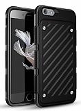 Eiroo Steel Armor iPhone 6 Plus / 6S Plus Ultra Koruma Siyah Kılıf
