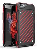 Eiroo Steel Armor iPhone 6 Plus / 6S Plus Ultra Koruma Kırmızı Kılıf