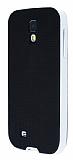 Eiroo Stripe Samsung i9500 Galaxy S4 Beyaz Kenarl� Silikon K�l�f