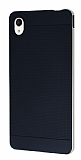 Eiroo Stripe Sony Xperia M4 Aqua Gold Kenarlı Siyah Silikon Kılıf