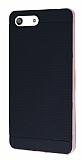 Eiroo Stripe Sony Xperia M5 Rose Gold Kenarlı Siyah Silikon Kılıf