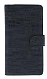 Eiroo Tabby iPhone 7 / 8 Cüzdanlı Kapaklı Siyah Deri Kılıf