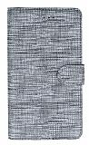 Eiroo Tabby Oppo A12 Cüzdanlı Kapaklı Silver Deri Kılıf