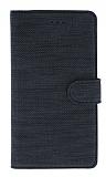 Eiroo Tabby Oppo A12 Cüzdanlı Kapaklı Siyah Deri Kılıf