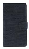 Eiroo Tabby Oppo A92 Cüzdanlı Kapaklı Siyah Deri Kılıf